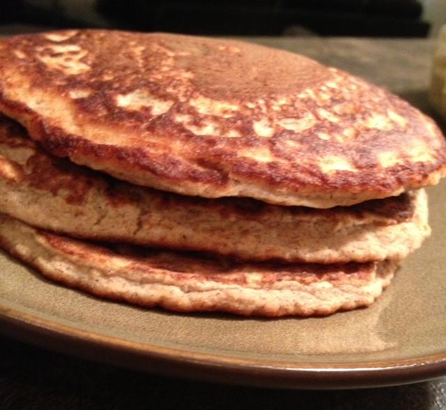 Raspberry Oat Protein Pancakes